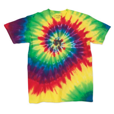 MULTI-SPIRAL TIE DYED T-SHIRT