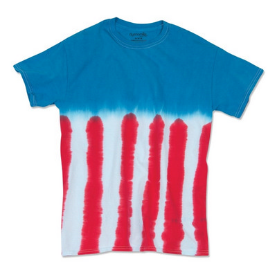 FLAG TIE DYED T-SHIRT