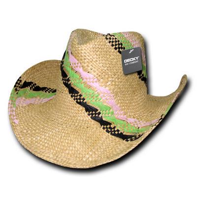 Hillary Yellow Straw Cowboy Hat