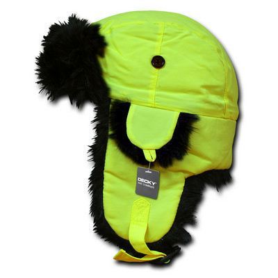 Black Fur Aviator Hat