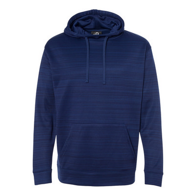 J.America Striped P/Fleece Pullover Hood