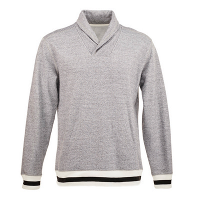 J.America Peppered Fleece Shawl Collar