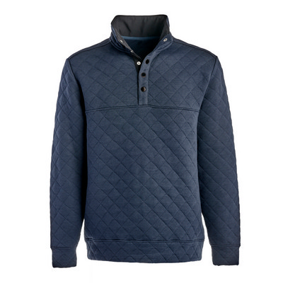 J.America Quilted Snap Pullover