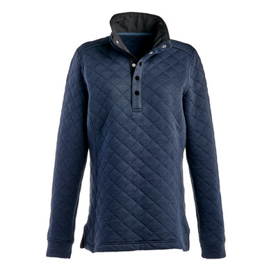 J.America Ladies Quilted Snap Pullover