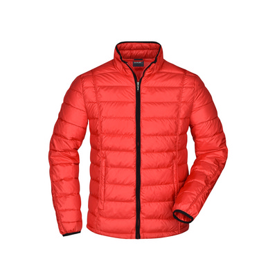James & Nicholson Mens Quilted Down Jacket