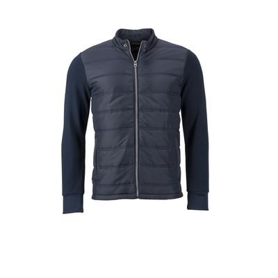 James & Nicholson Mens Hybrid Sweat Jacket