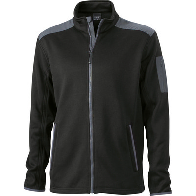 James & Nicholson Mens Knitted Fleece Jacket