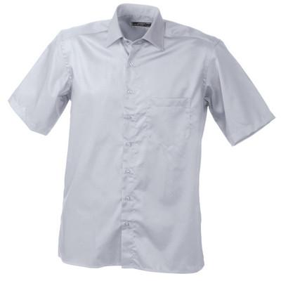James & Nicholson Mens Business Shirt Short-Sleeve