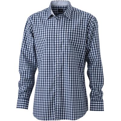 James & Nicholson Mens Checked Shirt
