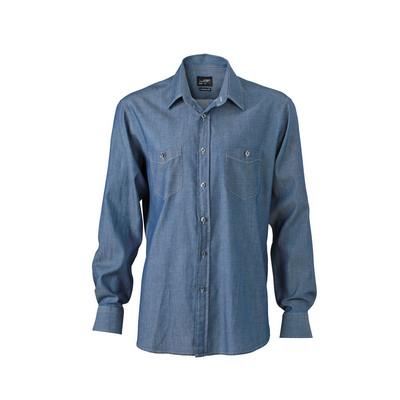 James & Nicholson Mens Denim Shirt