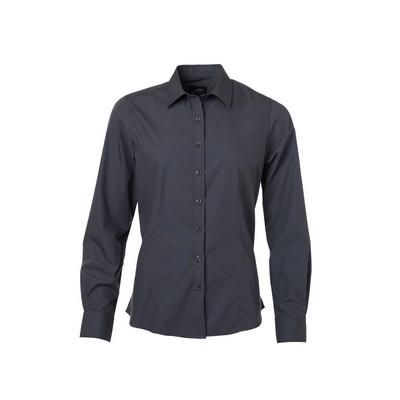 James & Nicholson Ladies Shirt Longsleeved Poplin