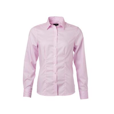 James & Nicholson Ladies Shirt Longsleeve Micro-Tw