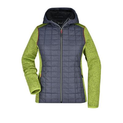 James & Nicholson Ladies Knitted Hybrid Jacket