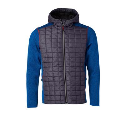 James & Nicholson Mens Knitted Hybrid Jacket
