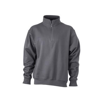 James & Nicholson Workwear Half Zip Sweat
