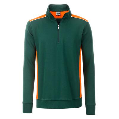 James & Nicholson Workwear Half-Zip Sweat-Level 2