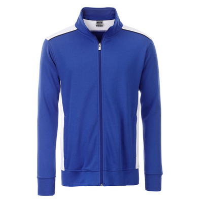 James & Nicholson Mens Workwear Sweat Jacket-Leve