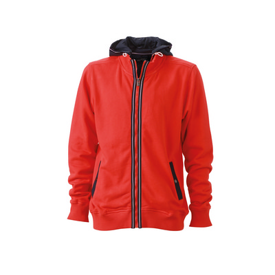 James & Nicholson Mens Hooded Jacket