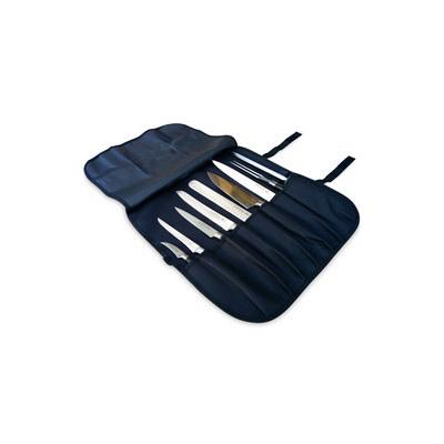 7 Pocket Black Knife Wrap Bag