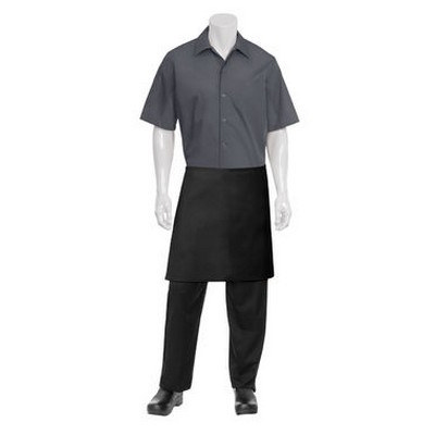Half Black Apron No Pocket