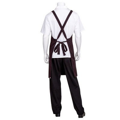 Black with Red Pinstripe Crossover Apron