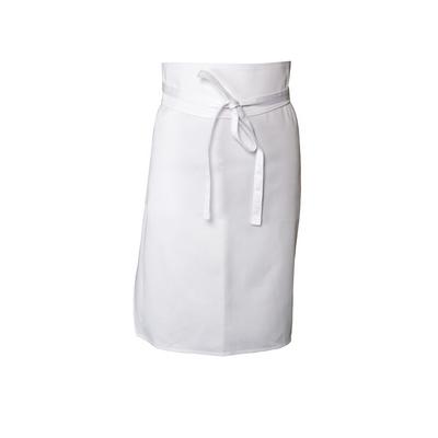 White Tapered Apron No Pocket