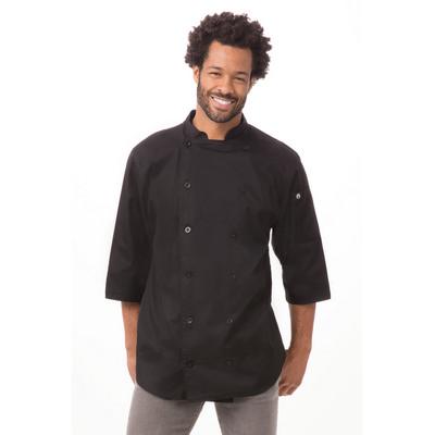 34 Sleeve Black Chef Shirt S100-BLK_CHEF