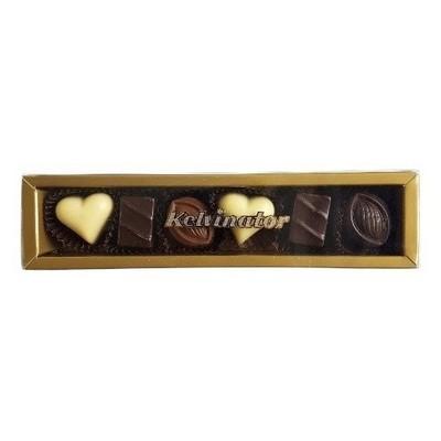 6Pc Belgian Chocolate Gold Gift Box