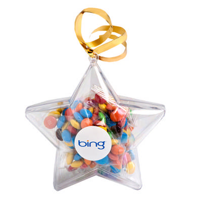 Acrylic Stars Filled With M&Ms 50G sticker