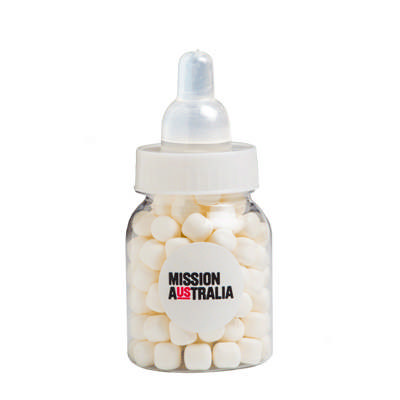 Baby Bottle Filled with Mints