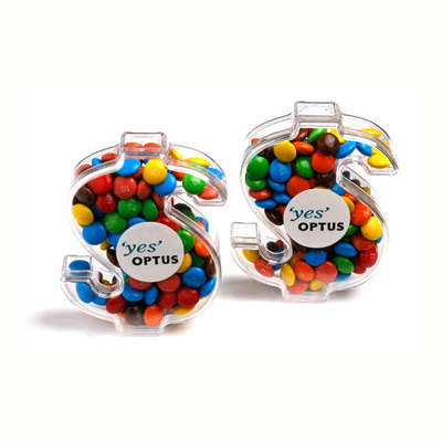 Acrylic Dollar Filled With Mini M&Ms 40G 1 Colour