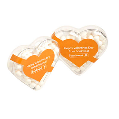 Acrylic Heart Filled With Mints 50G sticker