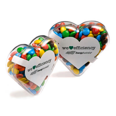 Acrylic Heart Filled With Mini M&Ms 50G sticker