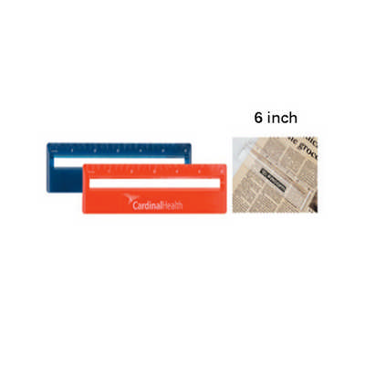 15cm Ruler with Colour and Magnifying