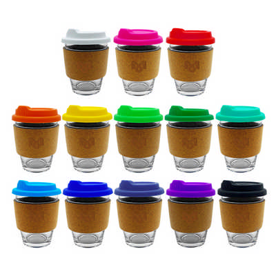 Carlo Glass Coffee Cup - Cork Band