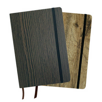A5 Wood Look Notebook