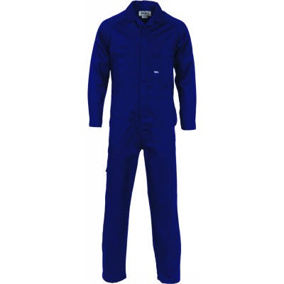 190gsm Light Weight Cool-Breeze Cotton Coverall with plastic press studs, Under arm Airflow Vents. 3104_DNC