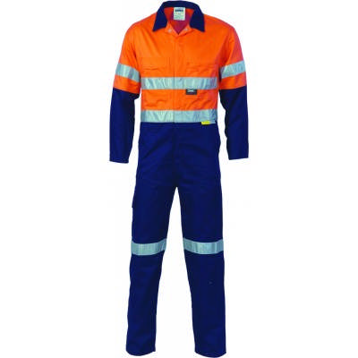 311gsm HiVis Two Tone Cotton Coverall with 3M8906 R/Tape 3855_DNC