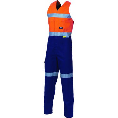 311gsm HiVis Cotton Action Back Overall with 3M8906 R/tape 3857_DNC