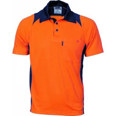 175gsm HiVis Cool Breathe Action Polo Shirt, S/S 3893_DNC