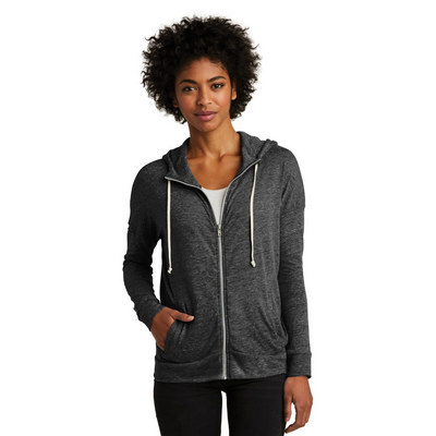 Alternative Womens Eco-Jersey Cool-Down Zip Hoodie