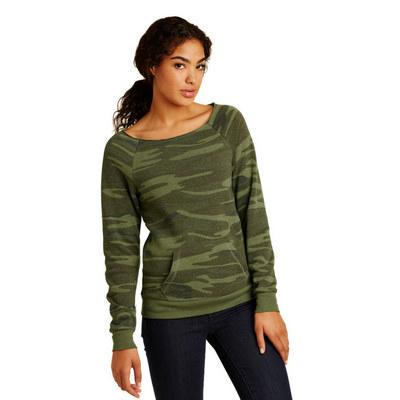 Alternative Womens Maniac Eco -Fleece Sweatshirt.