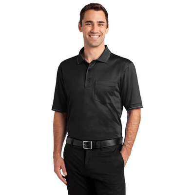 CornerStone Select Snag-Proof Tipped Pocket Polo.