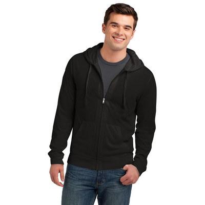 District Young Mens Jersey Full-Zip Hoodie. DT1100