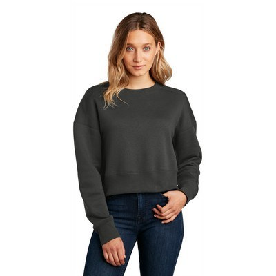 District Womens Perfect Weight Fleece Cropped Crew