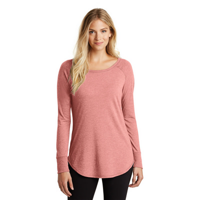 District Made Ladies Perfect Tri Long Sleeve . D