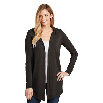 District Womens Perfect Tri Hooded Cardigan. DT156
