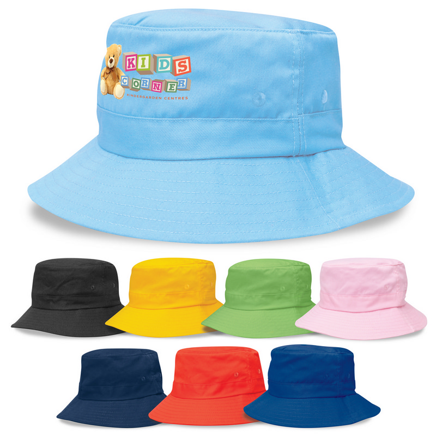 Kids Twill Bucket Hat wToggle