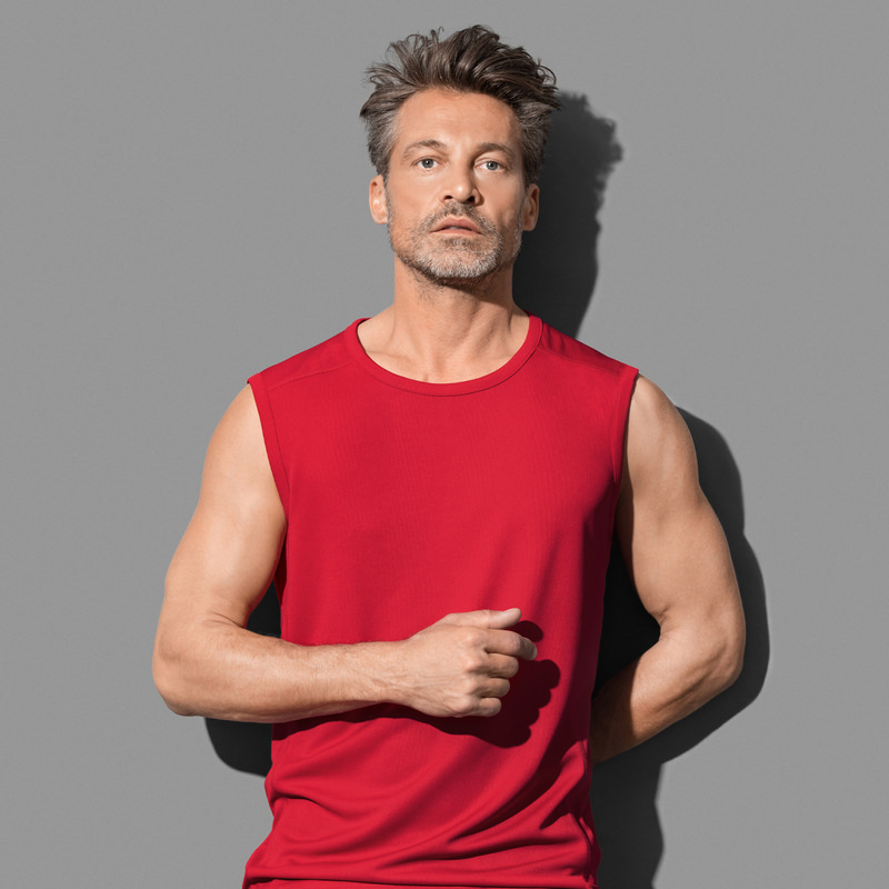 Stedman Collection Mens Active 140 Sleeveless