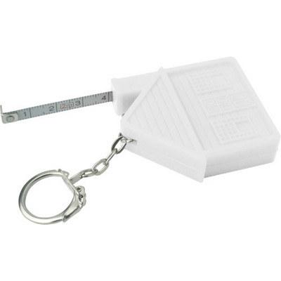 ABS key holder tape measure